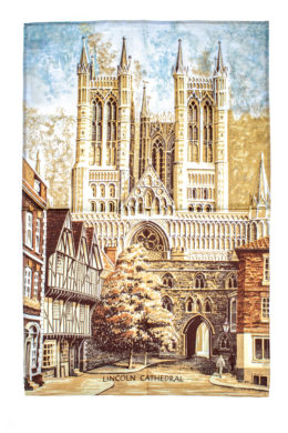 Linen Tea Towel of Lincoln Cathedral
