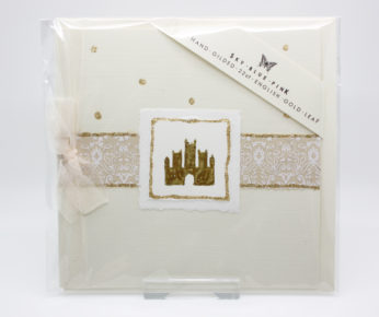 22ct gold leaf Cathedral card