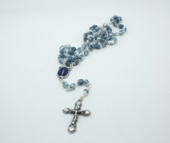 Blue Marble Effect Rosary