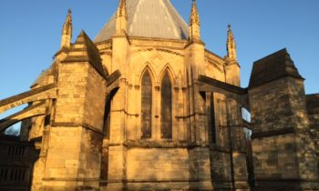 Lincoln Cathedral News - Pinnacle removed from Chapter House