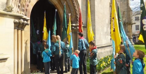 Lincoln Cathedral - Lincoln District Scouts St George's Day Parade