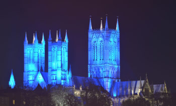 Lincoln Cathedral News - Blue lights to shine in show of support