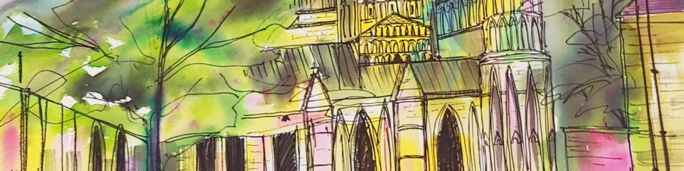 Lincoln Cathedral - Energy and colour the winning combination for Cathedral art competition.